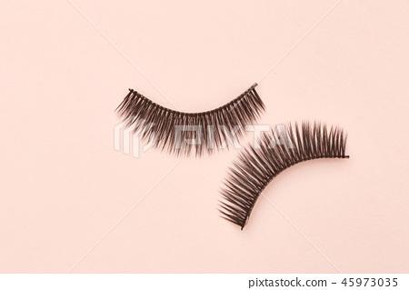 Eyelashes are on pink background 45973035