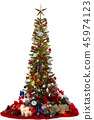 Red Christmas tree for background 45974123