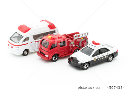 Police car, ambulance and fire engine: police car & ambulance & fire truck 45974334