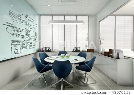 business meeting room on high rise office  45976118