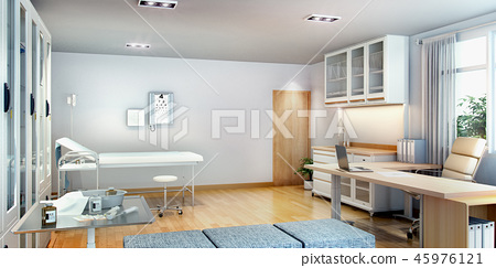 3d rendering first aid room near office 45976121