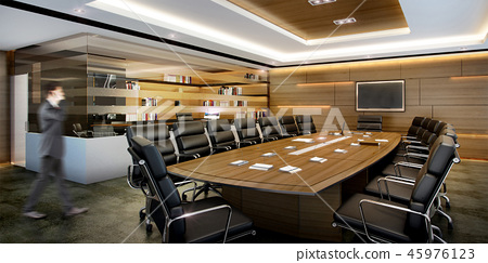 business meeting room on high rise office  45976123