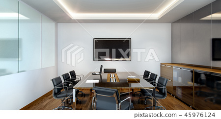 business meeting room on high rise office  45976124