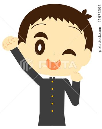 Cheerful boy student 45978398