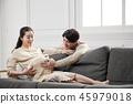 여자, 임산부, 주방 45979018