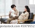 여자, 임산부, 남자 45979552