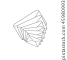 Envelope Icon vector. One new incoming message envelope with notification, vector object. 45980993
