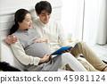 여자, 임산부, 부부 45981124