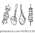 vector, barbecue, bbq 45981538