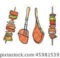 vector, barbecue, bbq 45981539
