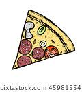 披萨 矢量 矢量图 45981554