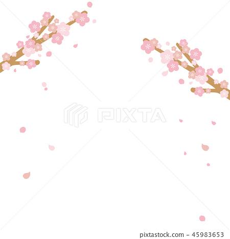 벚꽃 일러스트 45983653