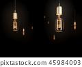 Concept vintage glowing light bulbs on dark 45984093