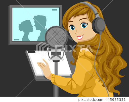 Teen Girl Voice Actor Illustration 45985331