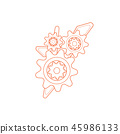 Gear Vector Template. The mechanism of the gear for the logo 45986133
