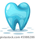 tooth cartoon background 45986286