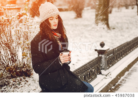 girl with coffee 45987038