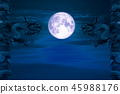 Christmas moon between pillars dragon night sky 45988176