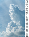 Vertical shot of towering cumulus clouds 45989652