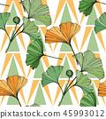 vector ginkgo leaf 45993012