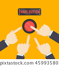 Hands pressing panic button 45993580