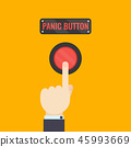 Hand pressing panic button 45993669