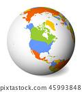 地球仪 球体 地图 45993848
