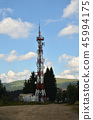 Telecommunication tower in mountain 45994175