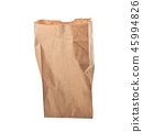 Brown paper bag isolated over white background 45994826