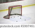 Ice hockey goal net 45997461