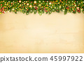 Christmas holiday decoration with branches of tree 45997922