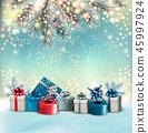 christmas, gift, background 45997924