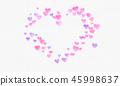 Heart shapes watercolor confetti background.  45998637