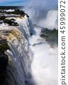 Waterfall Cataratas del Iguazu on Iguazu River, Brazil 45999072
