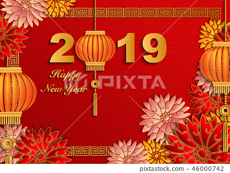 Happy Chinese new year retro traditional pattern 46000742