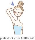 側頭髮的女人 46002941