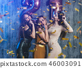 Group of women with fireworks at party having fun. 46003091