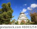 가을의 오사카 성 46003258