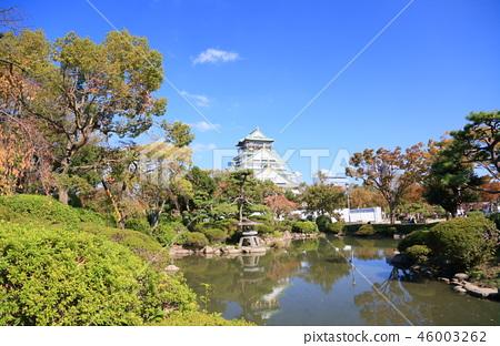 가을의 오사카 성 46003262