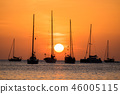 Boat sunset 46005115