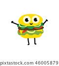 vector, burger, food 46005879