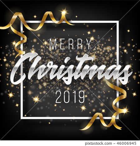 Merry Christmas and Happy New Year 2019 Background 46006945