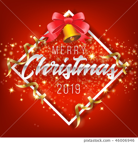 Merry Christmas and Happy New Year 2019 Background 46006946