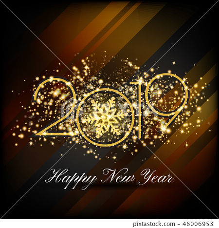 2019 Happy New Year Greeting Card Background 46006953