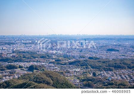 하치 오지 성산 하치 오지 성터 (국가 지정 사적) 9 부 능선 부근에서 도쿄 도심 방면의 경치 46008985