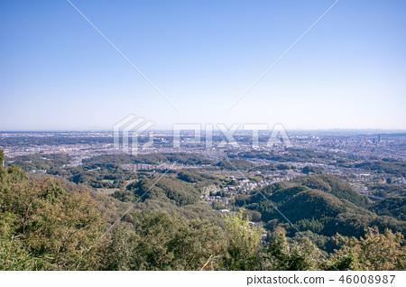 하치 오지 성산 하치 오지 성터 (국가 지정 사적) 9 부 능선 부근에서 도쿄 도심 방면의 경치 46008987