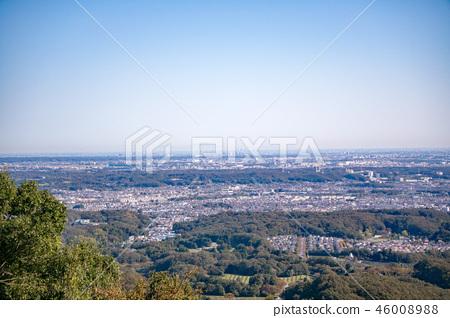 하치 오지 성산 하치 오지 성터 (국가 지정 사적) 9 부 능선 부근에서 도쿄 도심 방면의 경치 46008988
