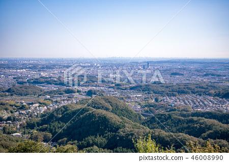 하치 오지 성산 하치 오지 성터 (국가 지정 사적) 9 부 능선 부근에서 도쿄 도심 방면의 경치 46008990
