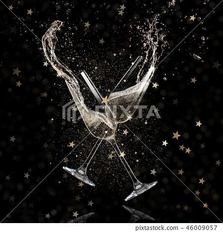 Glasses of champagne, celebration theme. 46009057