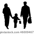 Happy family walking with shopping bags 46009467